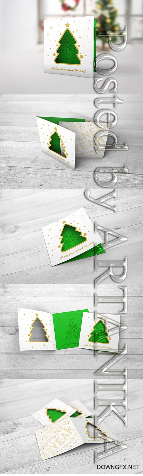 Christmas New Year Card Mock-Up