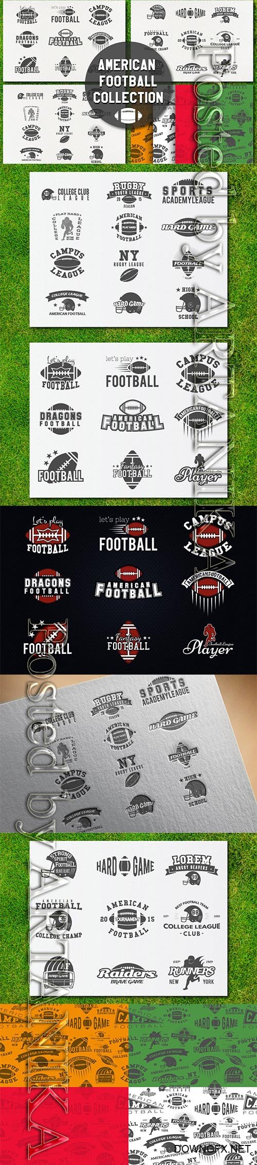 American Football Modern Labels / Logo Collection