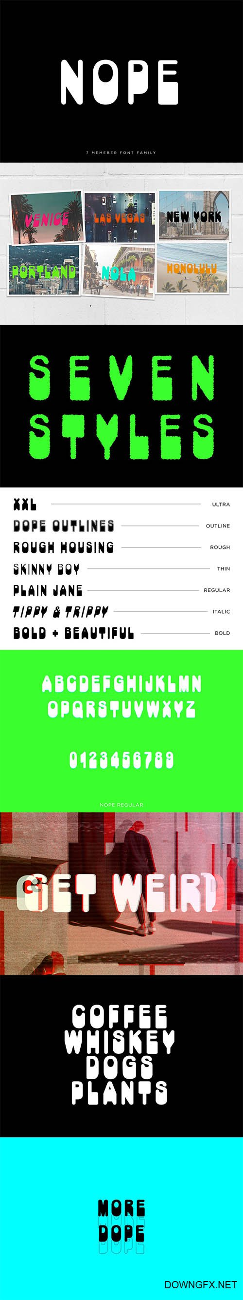 CM  - NOPE Font Family 4245021
