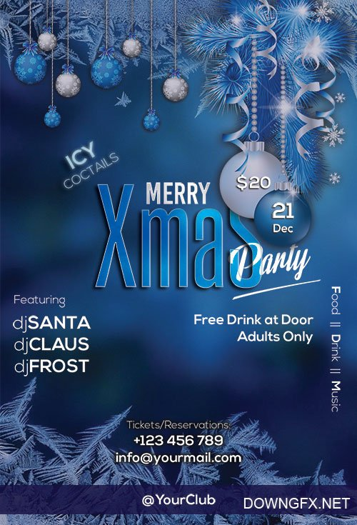 Merry Xmas Party - Premium flyer psd template