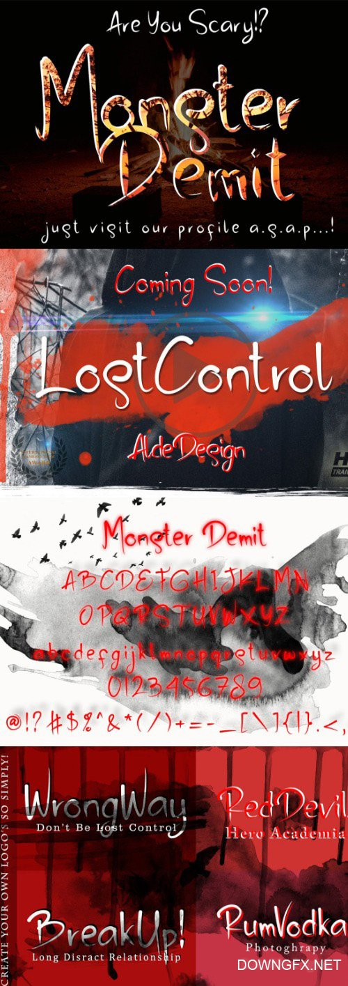 Monster Demit Font