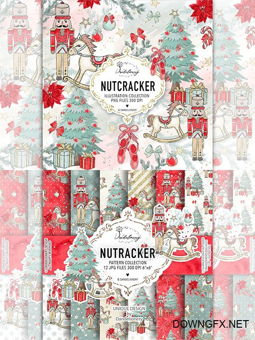 Christmas Nutcracker design and papers