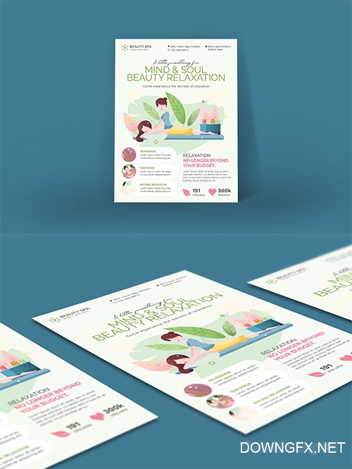 Beauty Spa Flyer and Poster PSD Template