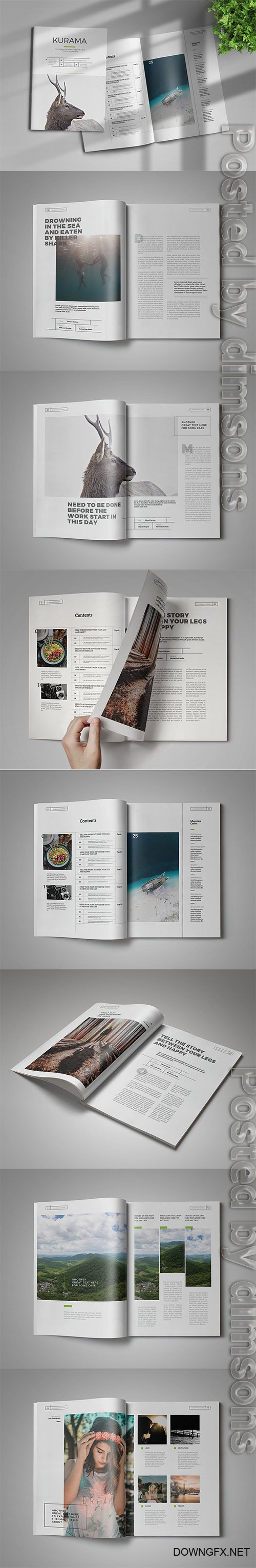 InDesign Magazine Template INDD