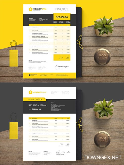 Invoice Template 16-17 PSD
