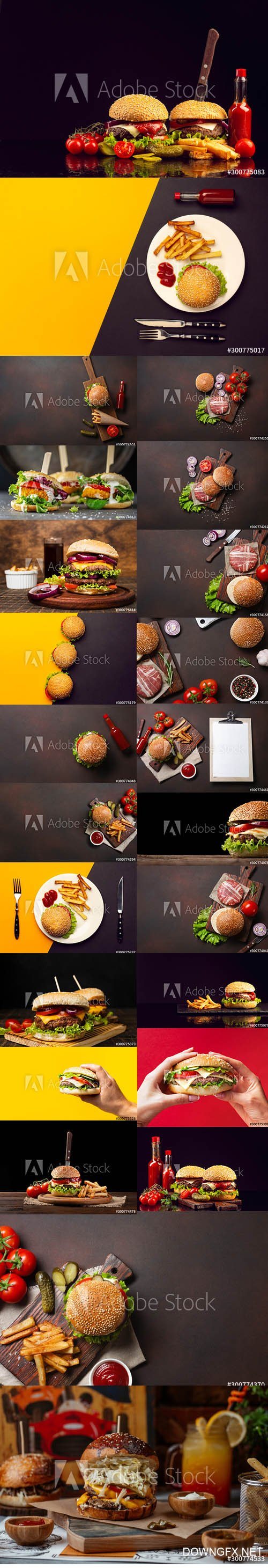 Hamburger Backgrounds Stock Images Set