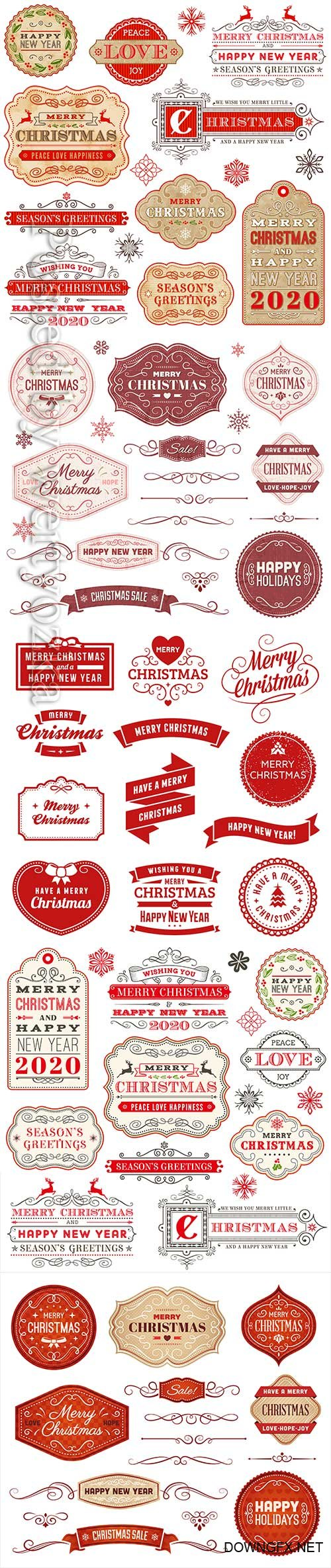 2020 Merry Chistmas and Happy New Year vector illustration # 15