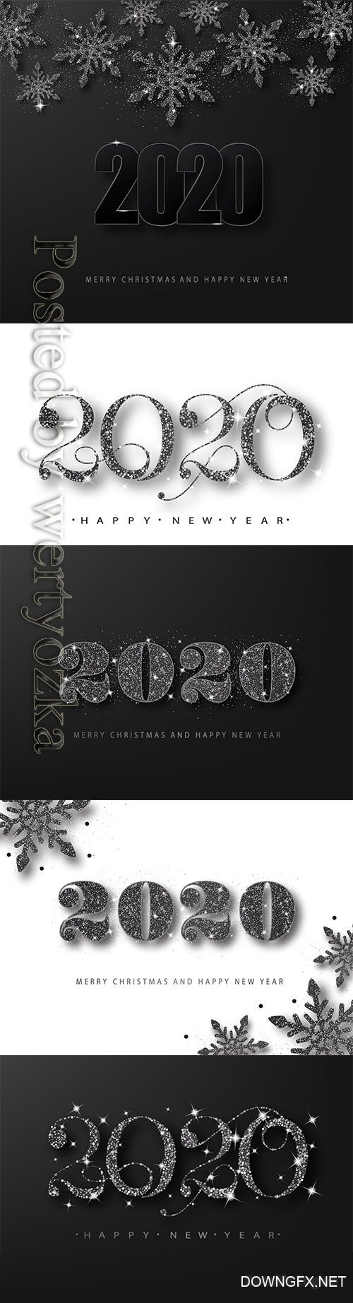 2020 Merry Chistmas and Happy New Year vector illustration # 16