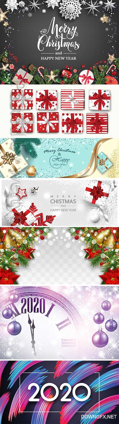 2020 Merry Chistmas and Happy New Year vector illustration # 14