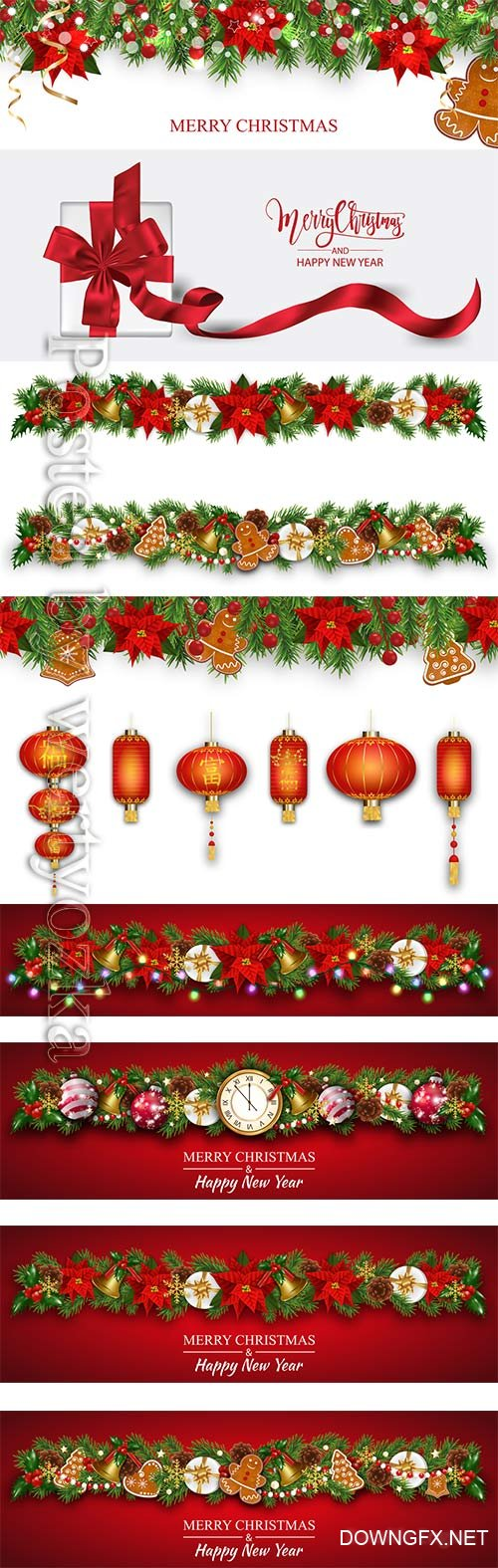 2020 Merry Chistmas and Happy New Year vector illustration # 13