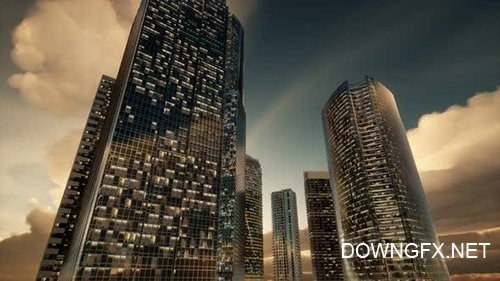 Videohive - Skyscrapers or Modern Buildings in the City -  25083126