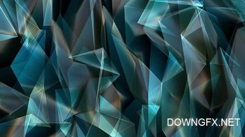 Videohive - Blue Shine Poligonal Background Loop -  25080320