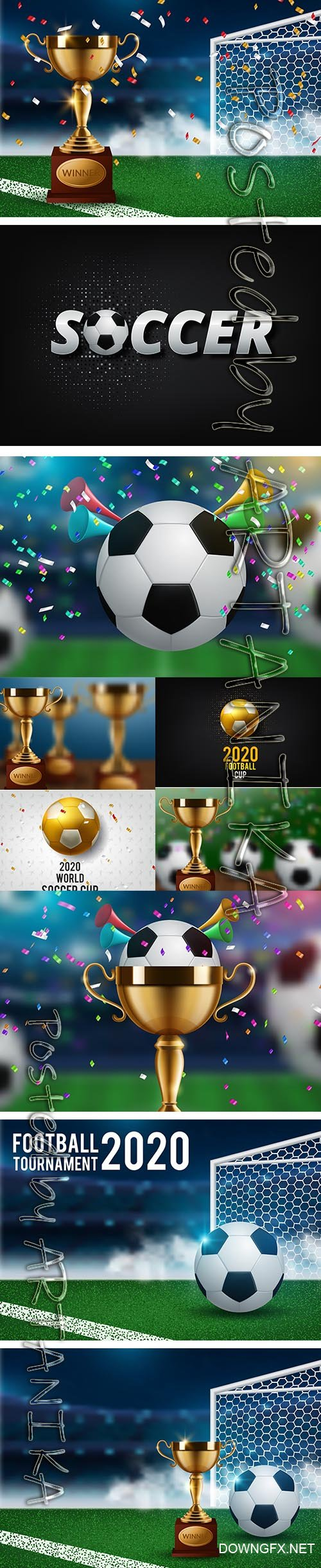Football World Championship Cup Background Soccer Set Vol 2