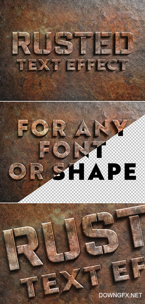 Rusted Metal Text Effect 305996140 PSDT
