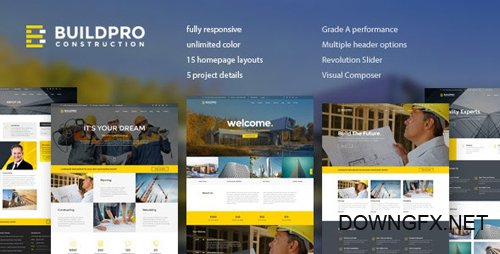 ThemeForest - BuildPro v1.0.9.6 - Business, Building & Construction WordPress Theme - 19263376