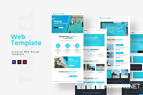 Travelio Web Template