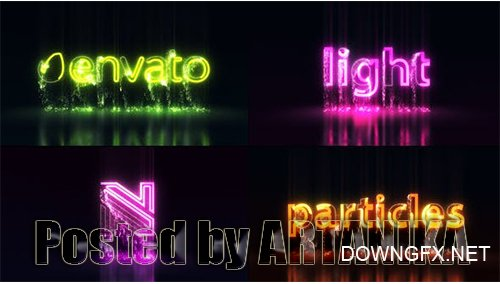 Light Particles Logo | Titles 25515764