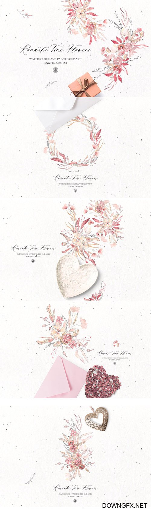 Romantic Time Flowers PNG