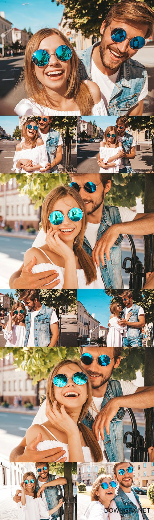 Smile romantic beautiful girl and boyfriend