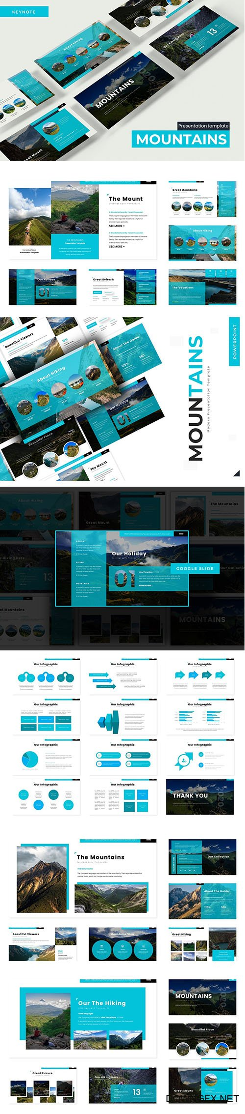 Mountains - Powerpoint Template, Keynote and Google Slide Template