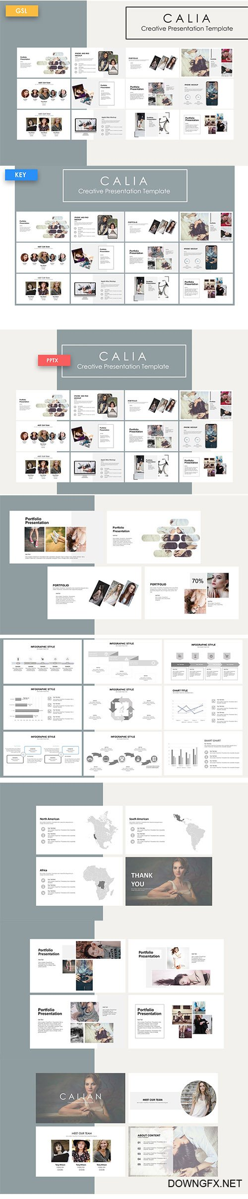 Calia - Powerpoint Template, Keynote and Google Slide Template