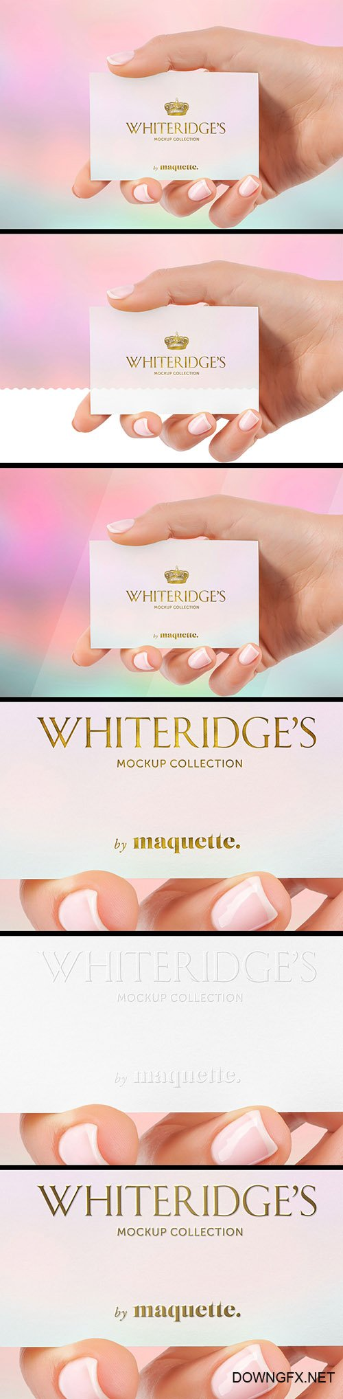 Hand with Gold-Embossed Business Card Mockup 15 130438116 PSDT