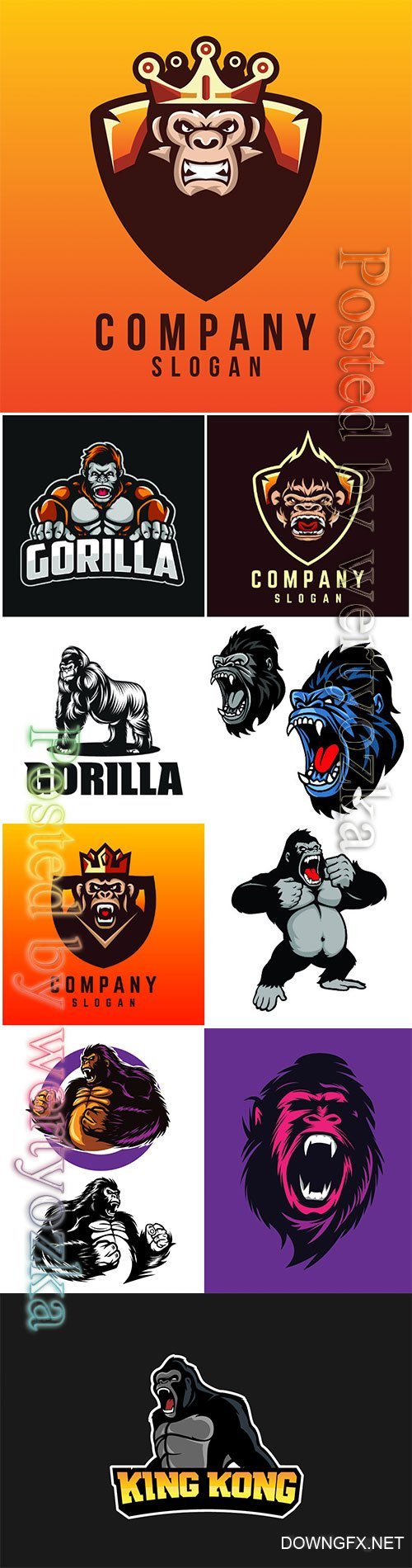 Monkey logos vector illustration