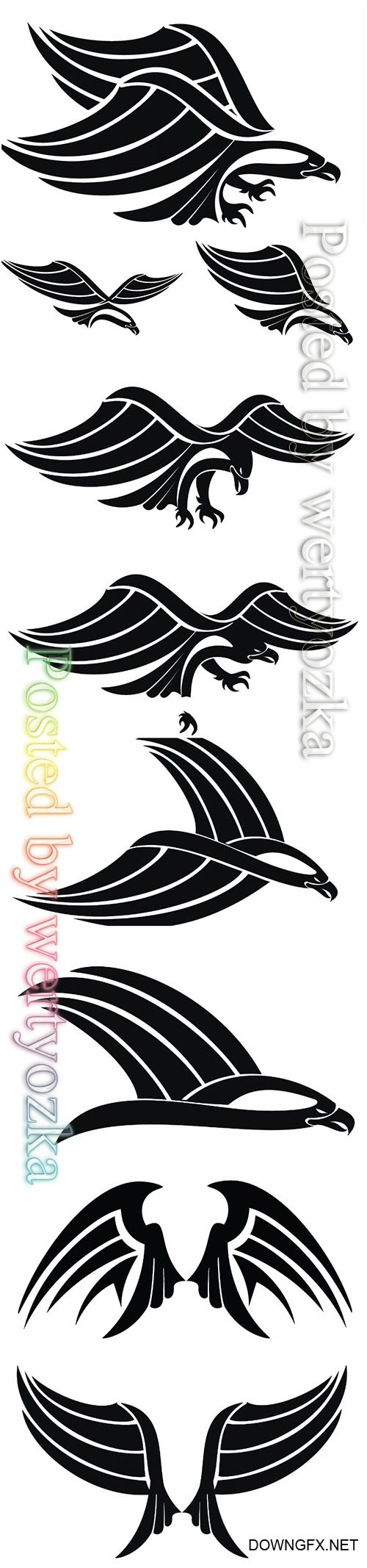 Eagle logos vector illustration