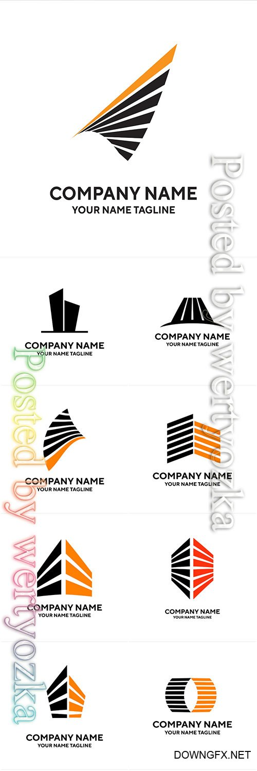 Company name logos vector illustration