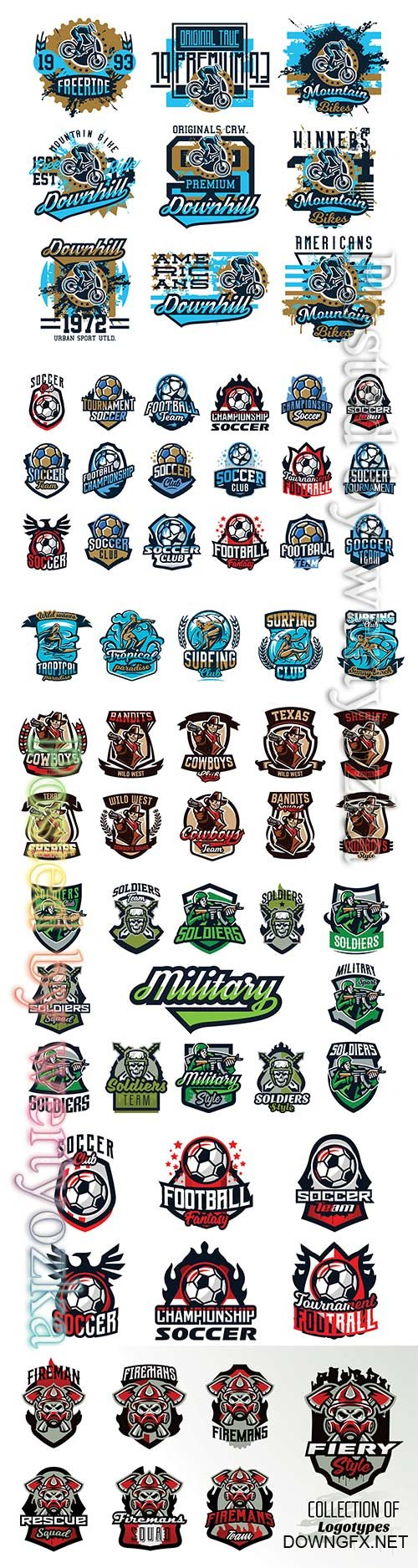Logo collection vector illustration