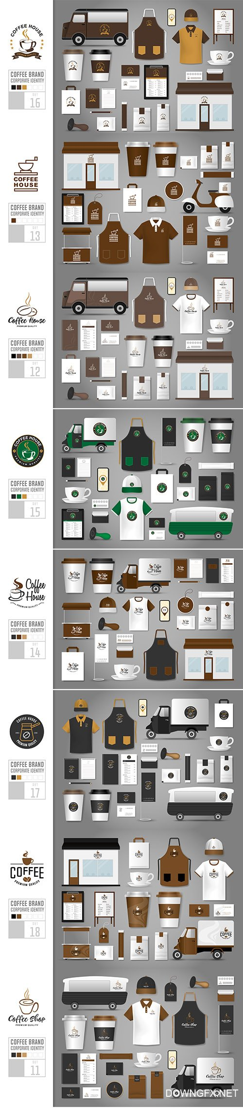 Corporate Identity Template Coffee Shop Set