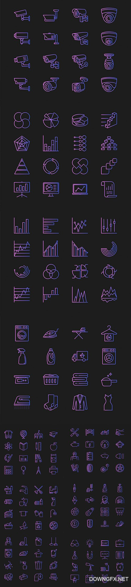 Vector Set of Different Concept Icons Vol 2