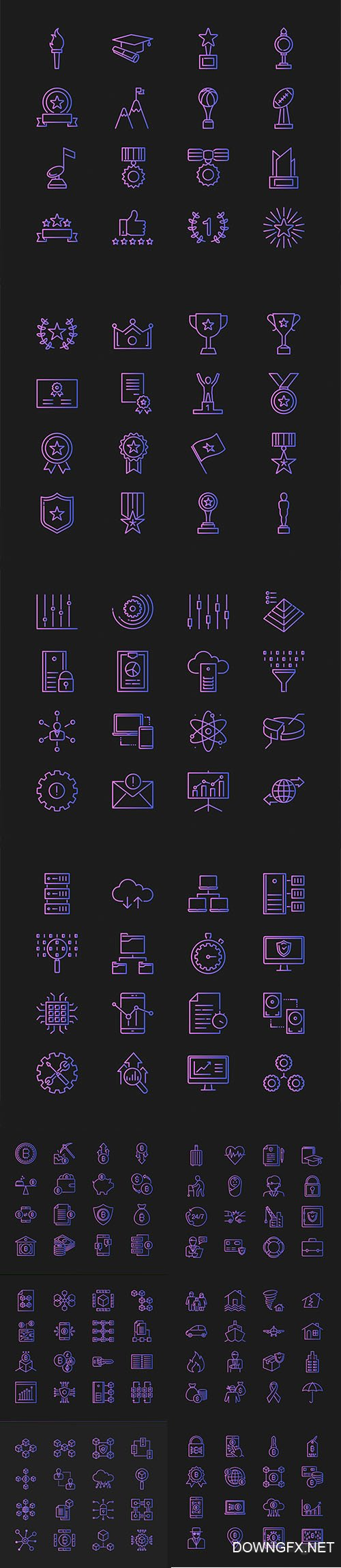 Vector Set of Different Concept Icons