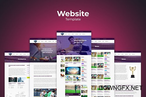 Football Soccer Website Templates