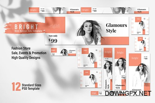 BRIGHT Fashion Store Web Banner Ads