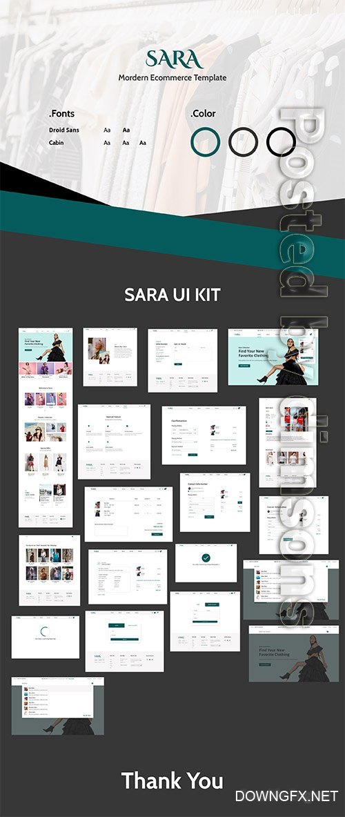 SARA E-commerce Web Ui Kit