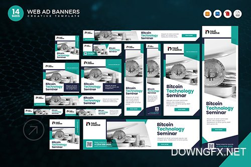 14 Bitcoin Technology Google Adsense Web Banner