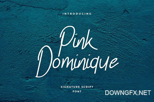 Pink Dominique Font