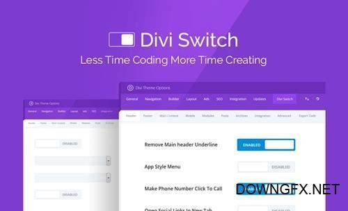Divi Switch v3.0.9 - Makes Customizing The Divi Theme - DiviSpace - NULLED