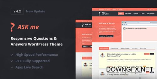 ThemeForest - Ask Me v6.2 - Responsive Questions & Answers WordPress - 7935874