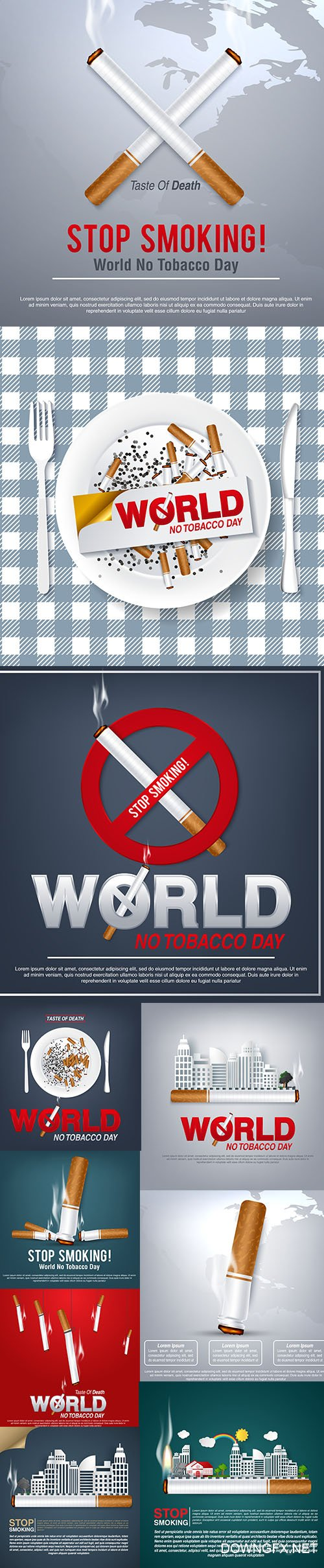 World NO Tobacco Day Stop Smoking