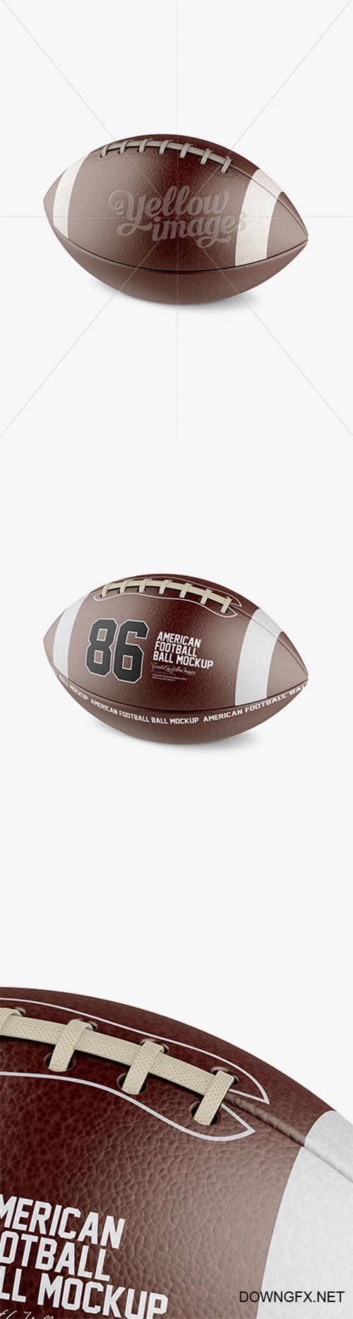 American Football Ball Mockup - Halfside View 15288 TIF