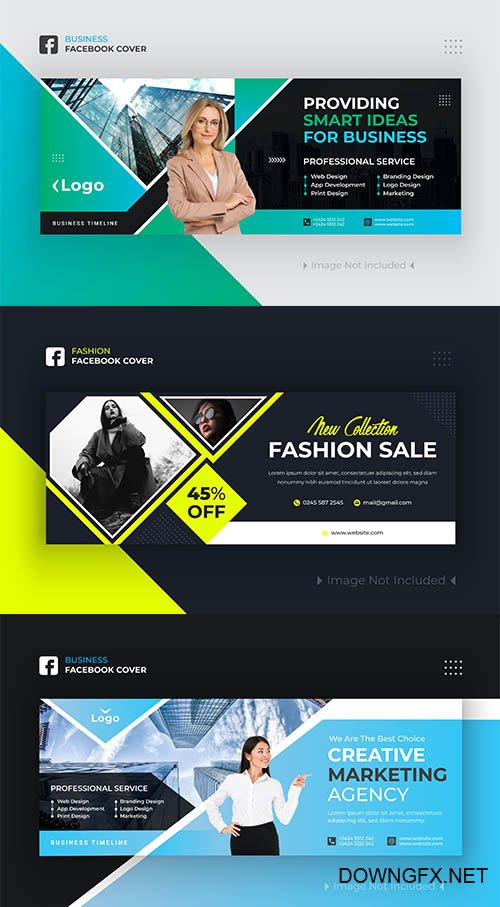 Business and Fashion Facebook Cover Design Premium