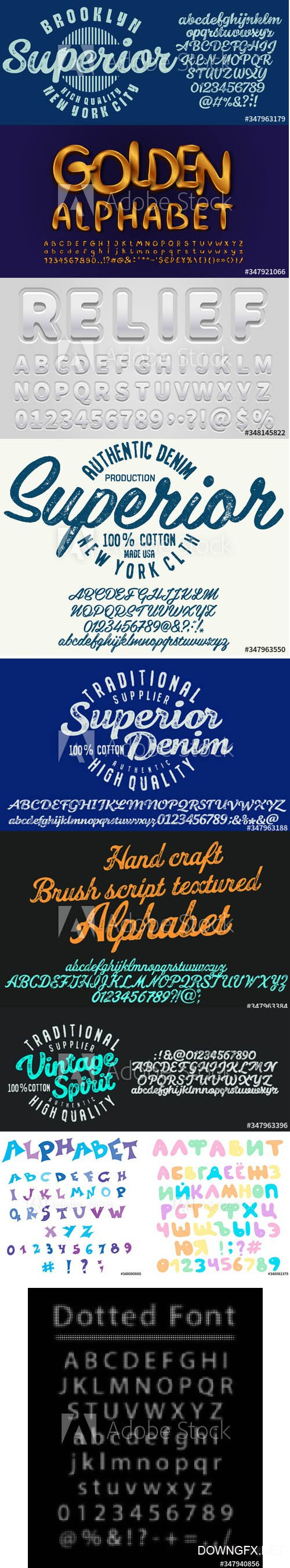 Vector Font Pack Vol 2