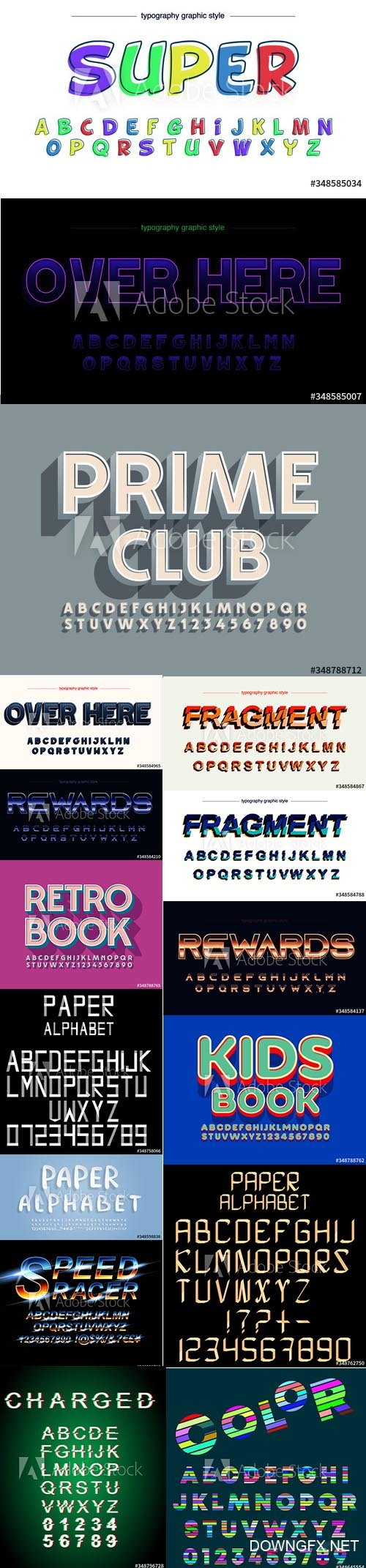 Vector Font pack Vol 6