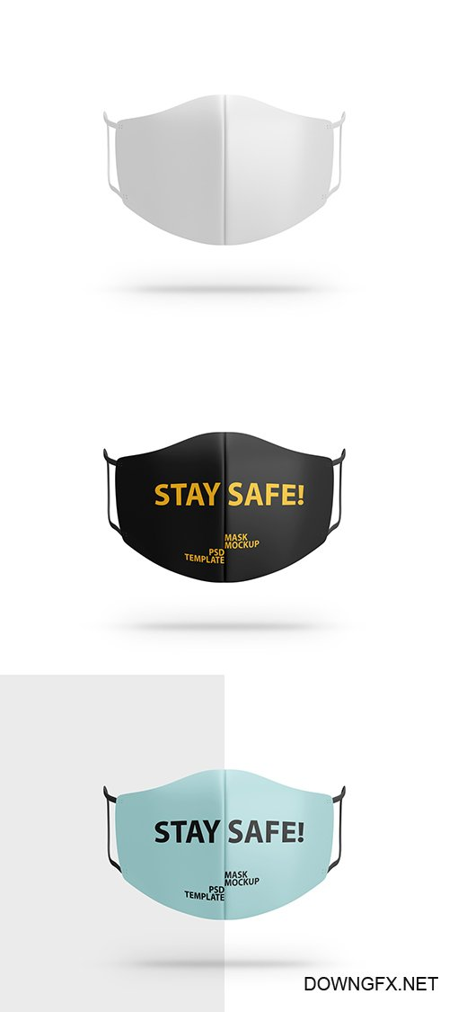 Face Mask Mockup Front View 350250106