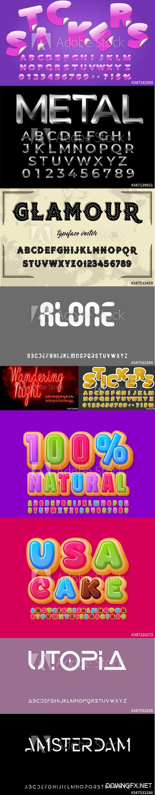 Vector Font Set Vol 10