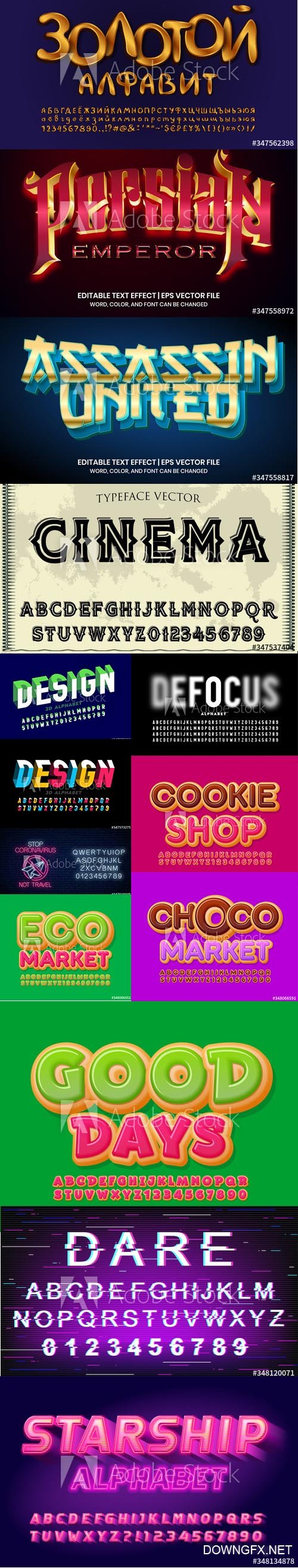 Vector Font Set Vol 9