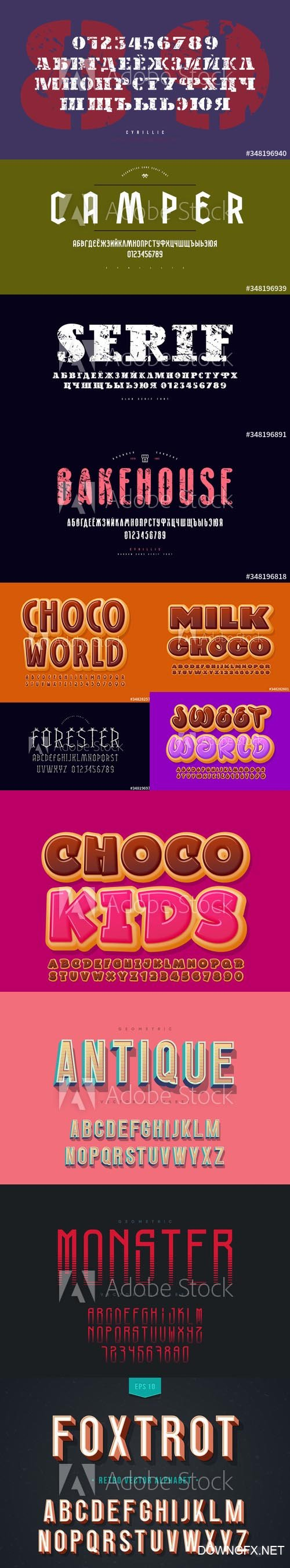 Vector Font Set Vol 8