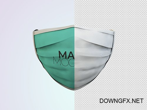 Front View Face Protection Mask Mockup 349051754